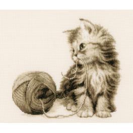 Stickpackung - Kätzchen