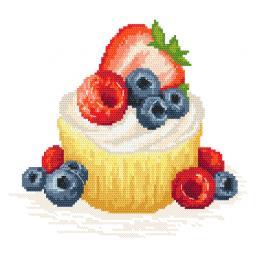 Aida mit Aufdruck - Fruchtkuchen