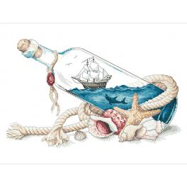 Z 10264 Stickpackung - Meer in der Flasche