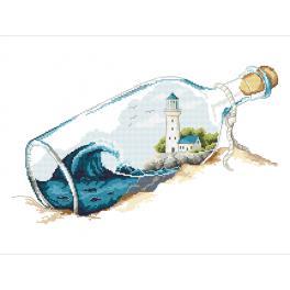 Z 10263 Stickpackung - Erinnerungen in der Flasche