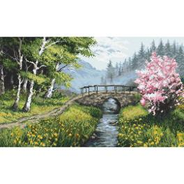 Zählmuster - Frühlingslandschaft