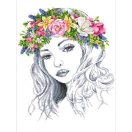 Stickpackung - Frühlingfrau