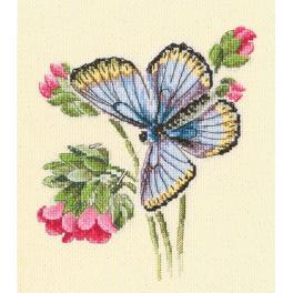 Stickpackung - Schmetterling auf zarter Blume
