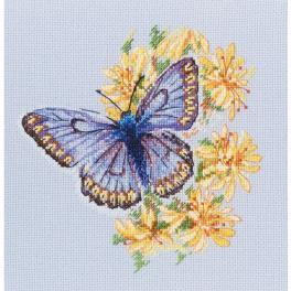 Stickpackung - Schmetterling auf Blumen