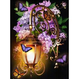 Diamond Painting Set - Laterne mit Lilien