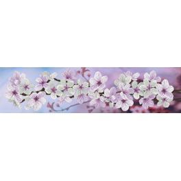 Stickpackung mit Stickgarn und Hintergrund - Frühlingsblühen