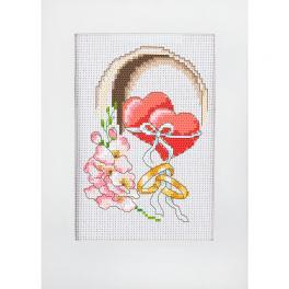 Zählmuster ONLINE pdf - Hochzeitskarte - Herzen