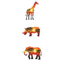 Zählmuster - Afrikanische Tiere