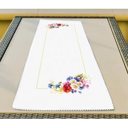 Zählmuster - Tischläufer mit Feldblumen