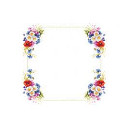 Zählmuster - Tischdecke mit Feldblumen