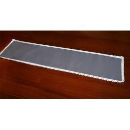 983-11 Tischläufer Aida 117x21 cm schwarzgrau