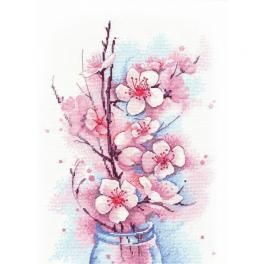 Stickpackung - Blühender Apfelbaum