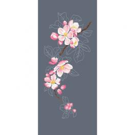 Stickpackung - Blühender Apfelzweig