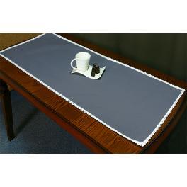 985-11 Tischläufer Aida 45x110 cm schwarzgrau