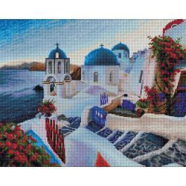 Diamond Painting Set - Abend auf Santorini
