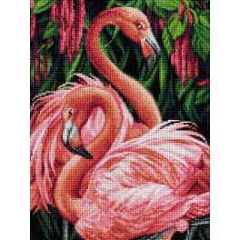 Diamond Painting Set - Flamingospaar