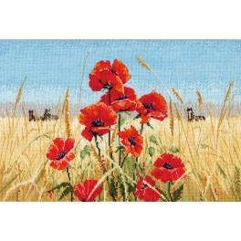 Stickpackung - Sommer, Feld, Mohnblumen