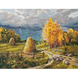 Stickpackung - Herbstgewitter