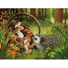 Diamond Painting Set - Igel im Wald