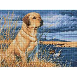 Diamond Painting Set - Labrador auf der Jagd