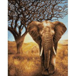 Diamond Painting Set - Afrikanischer Elefant