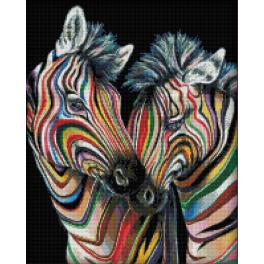 Diamond Painting Set - Bunte Zebras