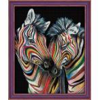 Diamond Painting Set - Bunte Zebras