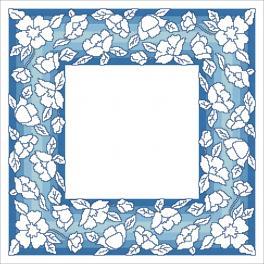 W 10629 stickvorlage ONLINE pdf - Serviette mit Blumen