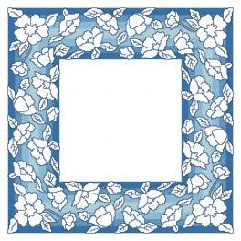 Zählmuster - Serviette mit Blumen