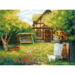 Set mit Wollgarn - Landhaus