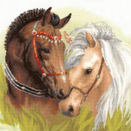 Set mit Wollgarn - Pferdespaar