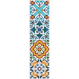 W 10628 Zahlmuster ONLINE - Ethnisches Lesezeichen III