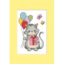Stickpackung - Karte - Kätzchen