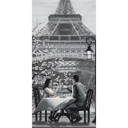 NCB 0105 Stickpackung mit Stickgarn und Hintergrund - Paris - Stadt der Liebe. Jugend