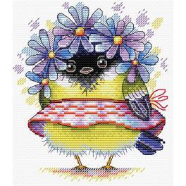 Stickpackung - Romantischer Vogel