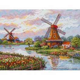 Stickpackung - Dänische Windmühlen