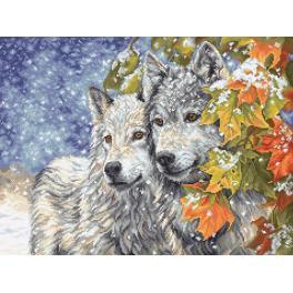 Stickpackung - Früher Schnee und Wölfe