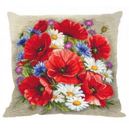 Stickpackung mit Kissenbezug - Kissen - Sommermagie der Blumen