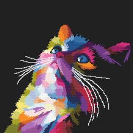 Zahlmuster ONLINE - Bunte Katze