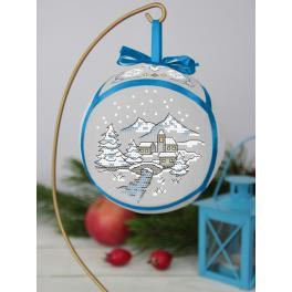 Stickpackung - Weihnachtskugel mit Brücke