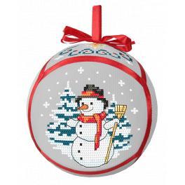 Zahlmuster ONLINE pdf - Weihnachtskugel mit Schneemann