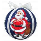 Zählmuster - Weihnachtskugel mit Nikolaus