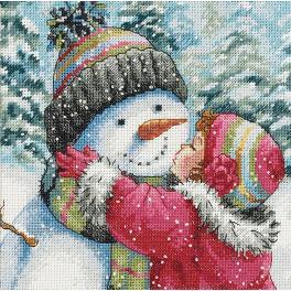 Stickpackung - Kuss für Schneemann