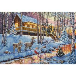 Stickpackung - Haus im Wald