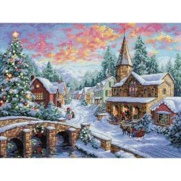 Stickpackung - Weihnachtsdorf
