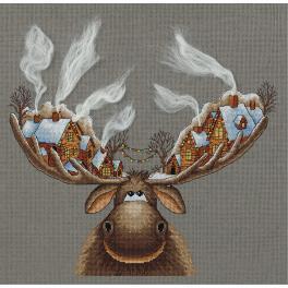 Stickpackung - Weihnachtselch