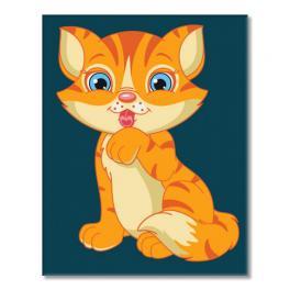 MINI16130002 Set zum Malen nach Zahlen - Kätzchen