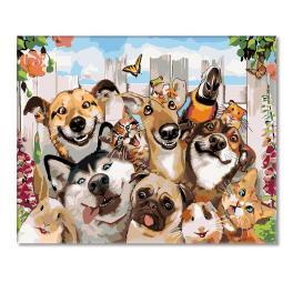 A427 Set zum Malen nach Zahlen - Lustige Tiere