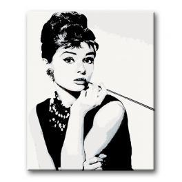 AH321 Set zum Malen nach Zahlen - Audrey Hepburn Cigarello