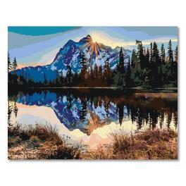 20016 Set zum Malen nach Zahlen - Sonnenaufgang im Gebirge